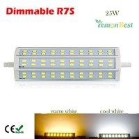 Lemonbest® Energy saving Dimmable SMD 5730 LED R7S 24/48/60 leds LED Flood Light Bulb Floodlight Work Lighting Lamp, Halogen double-ended Tube replacement, Cool White 6500K (25 Watts)