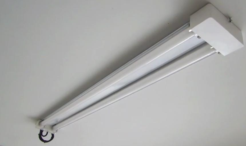 Garage Led Shop Light Fixture Replaces Fluorescent.