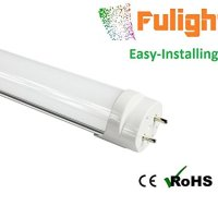 Fulight Easy-Installing¤ LED F15T8 Tube Light (Rotatable) -18 Inch 1.5FT 7W (15W Equivalent), Cool White 4000K, Double-End Powered, Frosted Cover, Works from 85-265VAC - Fluorescent Replacement Bulbs for Under Cabinets Lighting Fixtures (Installation Manual Attached in the Images!!)