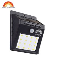 XINREE Bright Solar Power Outdoor LED Light No Tools Required Peel and Stick Motion Activated (16 LED)for Garage,Drive way,Patio