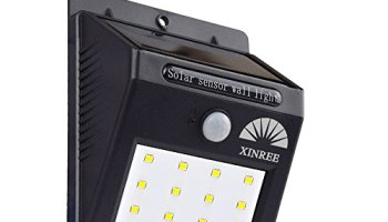 Xinree Bright Solar Power Outdoor Led Light No Tools Required Peel And Stick Motion Activated