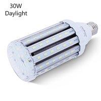 30W Daylight LED Corn Light Bulb for Indoor Outdoor Large Area - E26 Socket 3000Lm 6500K,for Home Street Lamp Post Lighting Garage Factory Warehouse High Bay Barn Porch Backyard Garden Super Bright