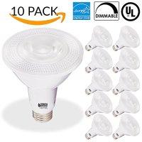 Sunco Lighting 10 PACK - PAR30 LED 11WATT (75W Equivalent), 2700K Soft White Light Bulb White, DIMMABLE, Indoor/Outdoor Lighting, 850 Lumens, Flood- UL & ENERGY STAR LISTED