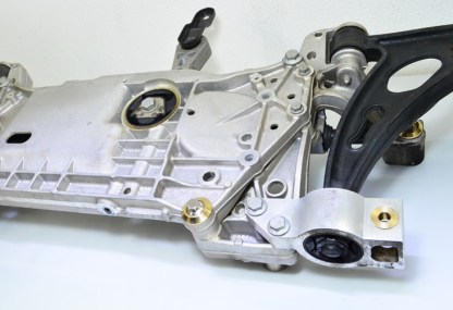TyrolSport Front Subframe Kit installed on subframe