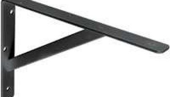Black HD Steel Shelf Bracket 12