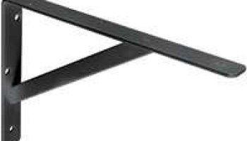 Black HD Steel Shelf Bracket 12