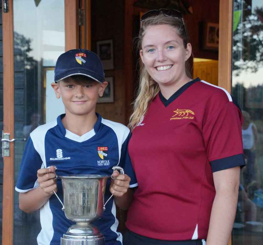 Sarah McGahan with Elliot Harte who wins the Youth Achievement Award