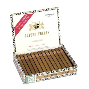 Arturo Fuente Curly Head Deluxe Natural Box Open