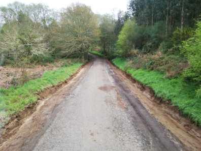 A Muraza asfaltado de la carretera obra pública