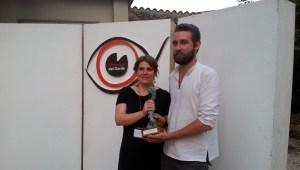 Veronica Maffizzoli, direttrice artistica, e Federico Simi della produzione italiana del vincitore Izlet - A Trip