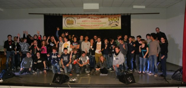 Band e staff concorso rock Noi Musica 2012