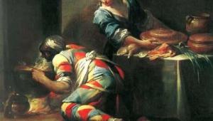 Arlecchino cuoco_Gian Domenico Ferretti