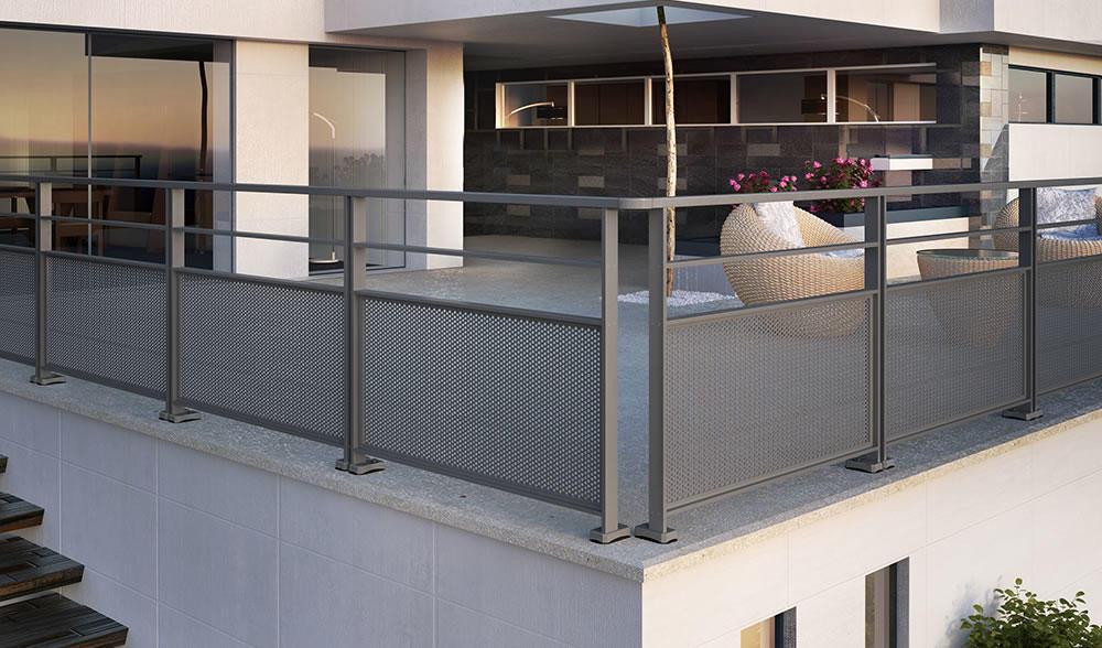 Garde Corps Aluminium Pour Villa Barriere De Protection Terrasses Balustrade Balcons Rambarde Alu Rampe Escalier Horizal