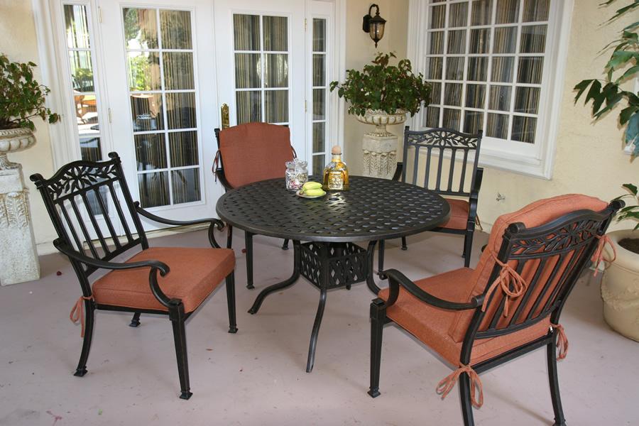patio furniture dining set cast aluminum 42