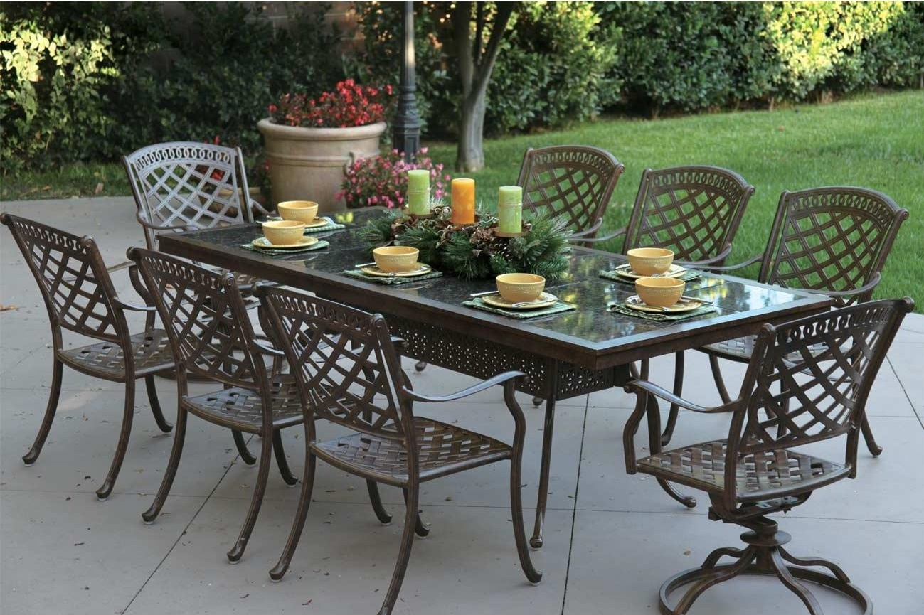 patio furniture cast aluminum dining set91