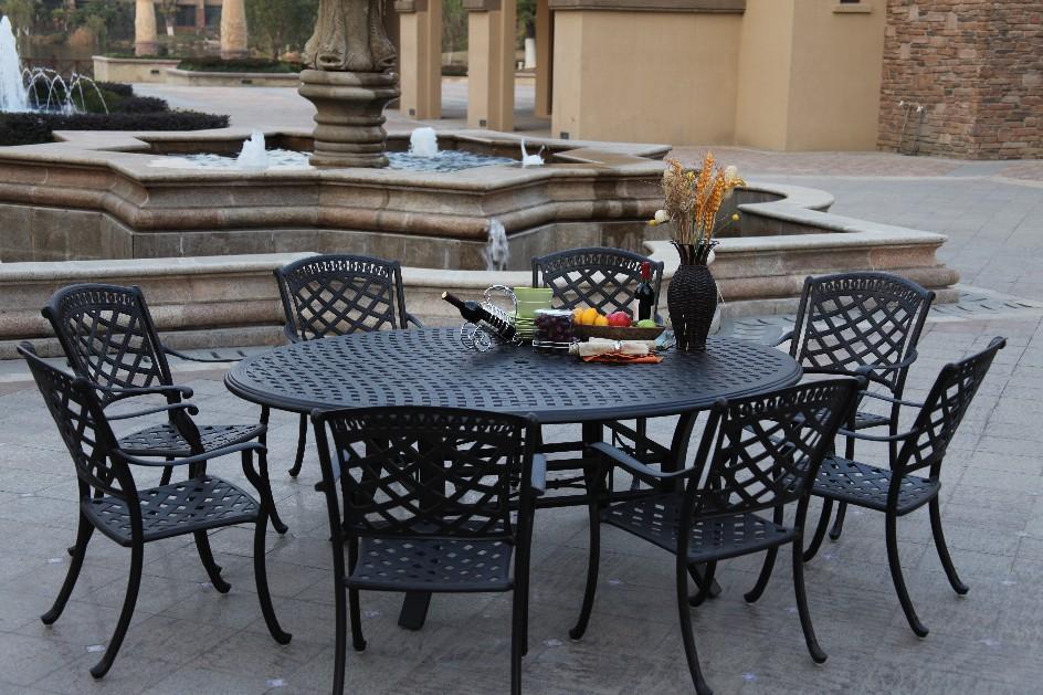 patio furniture dining set cast aluminum 78