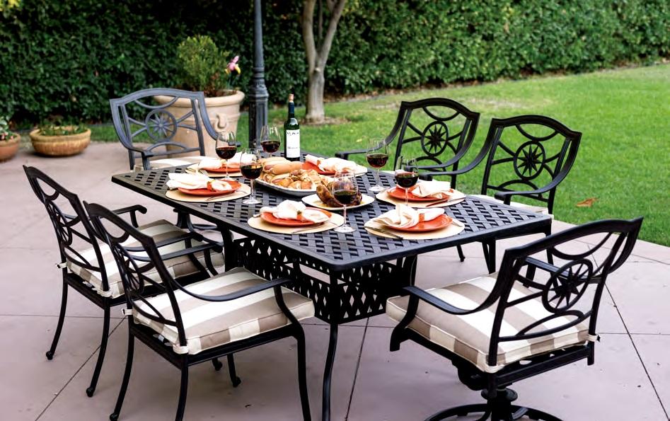 patio furniture cast aluminum dining set 72
