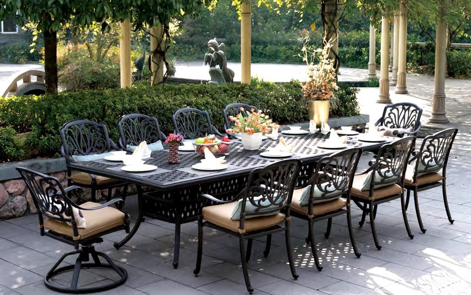 patio furniture dining set cast aluminum 120