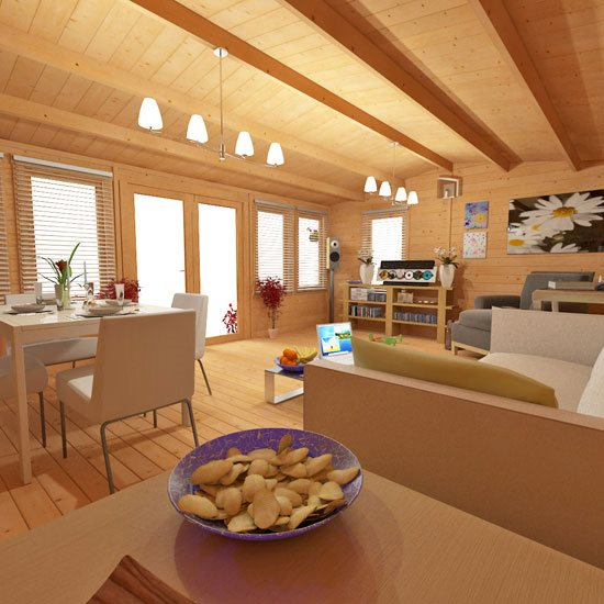 Billyoh Dorset Log Cabin Interior