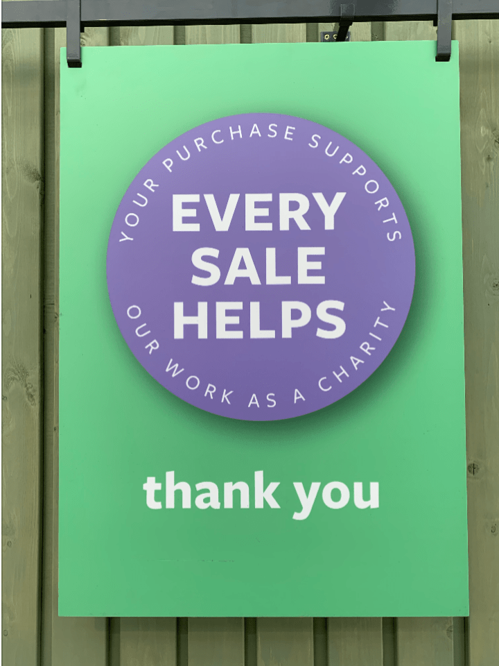 Clear Point of Sale explaining that all sales help the RHS with its mission