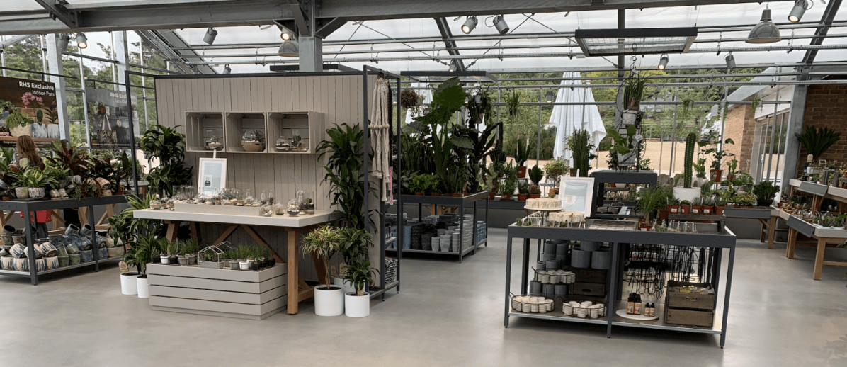 The new houseplant area with clean crips merchandising