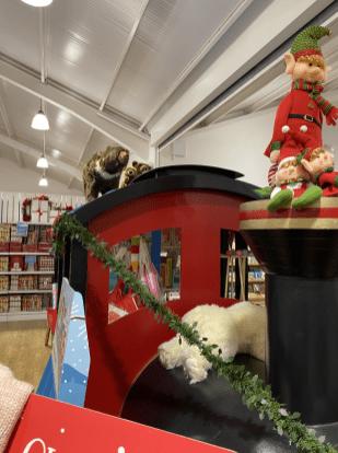 It not an elf on a shelf, its an elf on a train