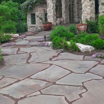 flagtone patio brick patio
