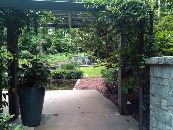Arbor Entrance to the Cascades Garden