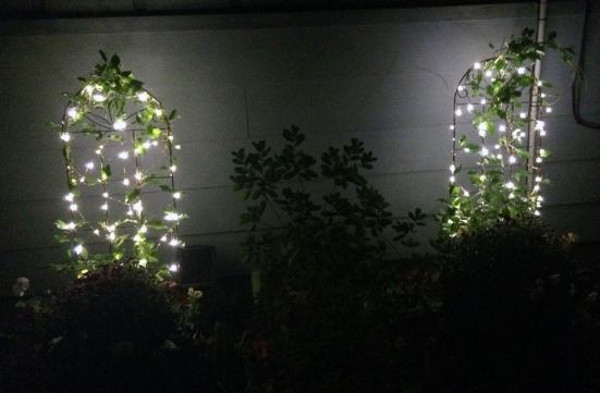 Outdoor LED Mini Lights - battery-powered