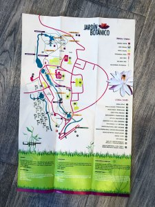 Map for the Jardin Botanico in Puerto Rico