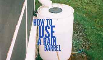 how to use a rain barrel