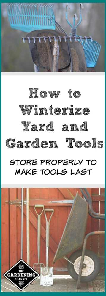 winterize yard and garden tools hoses