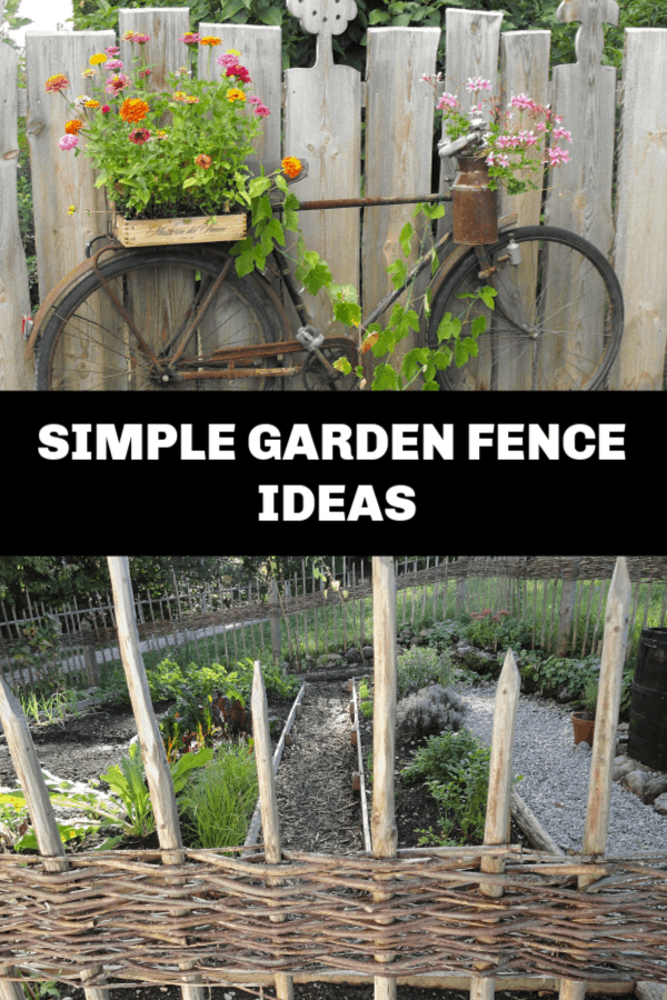 creative fence idea and garden fence with text overlay simple garden fences
