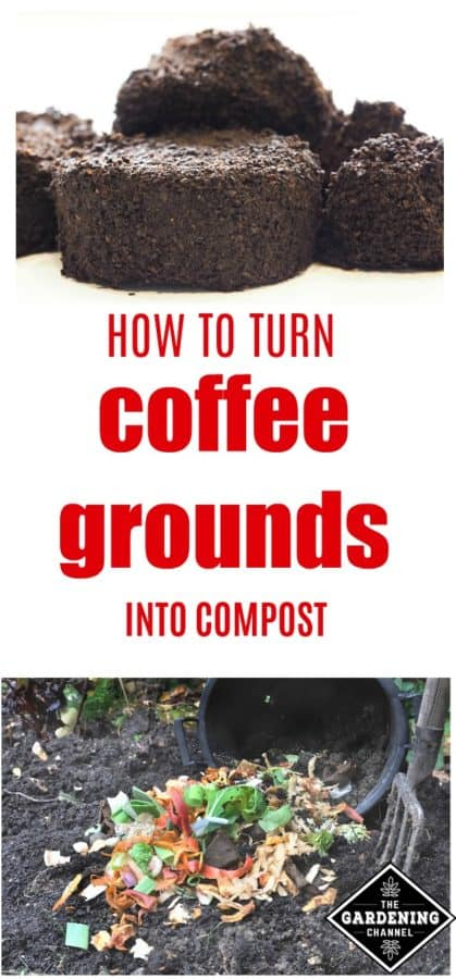 use coffee grounds to make compost