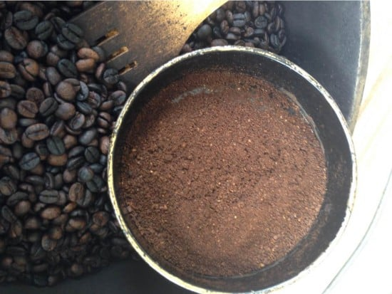 coffee grounds
