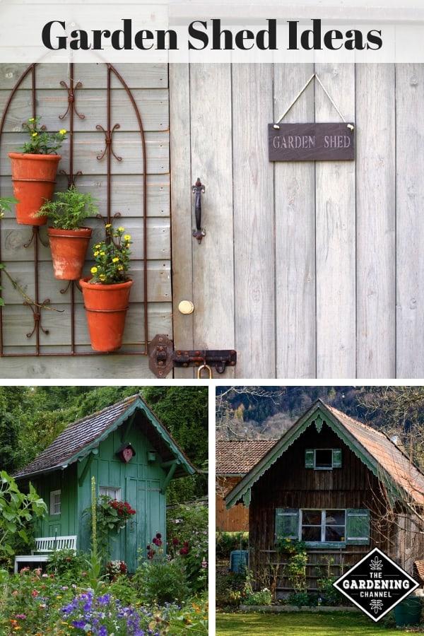 garden shed decor garden shed in garden with text overlay garden shed ideas