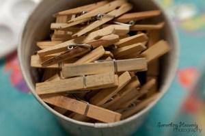clothespins rose gardening gadget