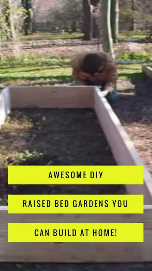 A giant collection of DIY raised bed gardeni plans that you can build yourself at home. Pick your design and get started raised bed vegetable gardening!