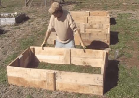 wood pallet raised bed garden plans