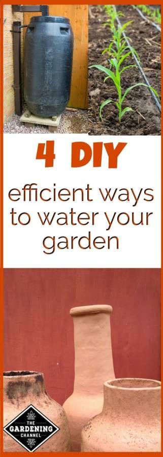 Efficient ways to water garden