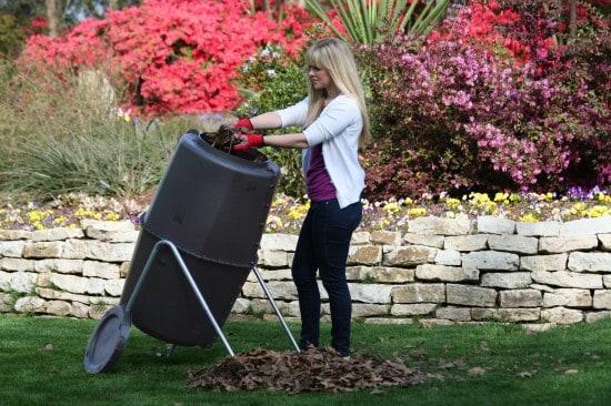 Spin Bin compost tumbler composter for composting