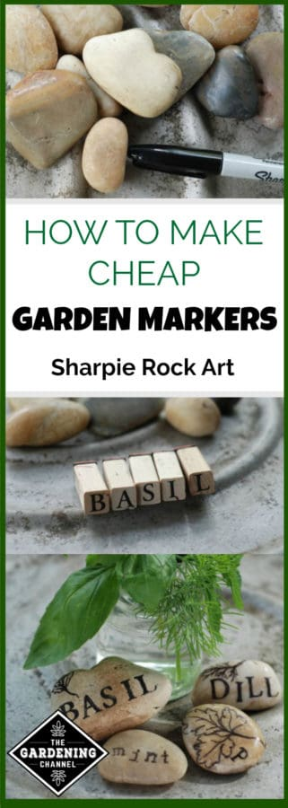 how to make cheap sharpie garden markers