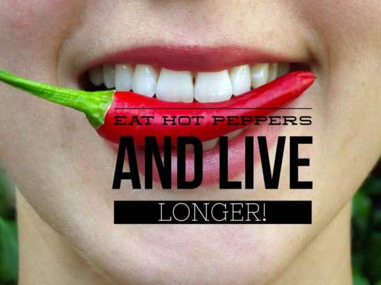 eat hot peppers for longer life