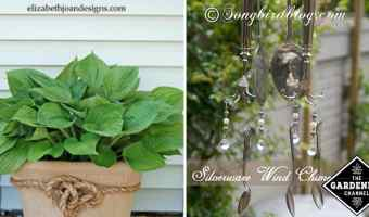 upcycled garden decor