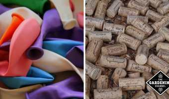 latex balloons wine corks to compost