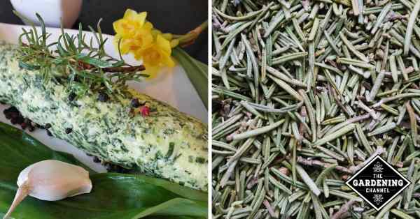 herb butter and dried rosemary