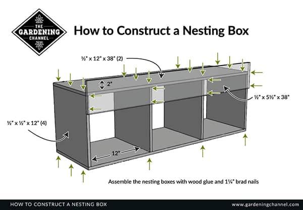 construct nesting box