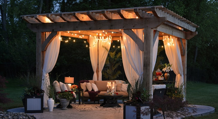 elegant backyard patio