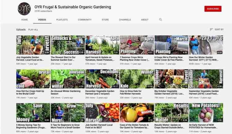 gardening youtube channel