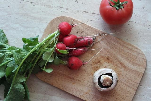 radis de jardinage d'intérieur